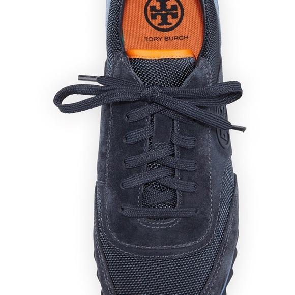 76d7826d0 Tory Burch Sawtooth Logo Trainer Sneakers SZ 8.5